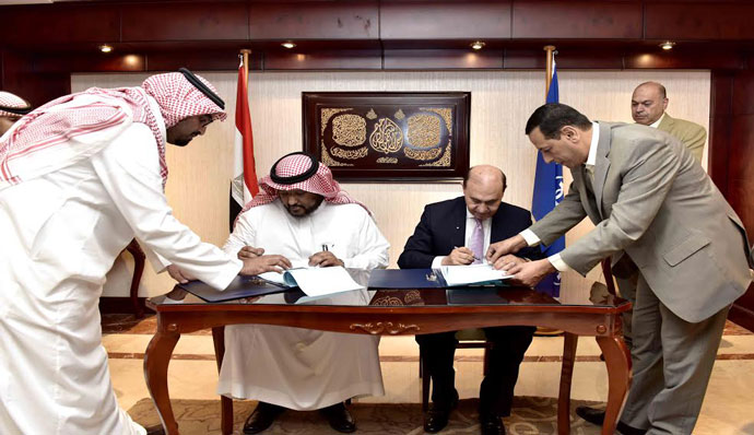 Mamish and Prince Walid bin Saud sign a partnership contract to build an Iron and Steel factory